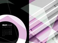 Abstract Desktop Calendar - May