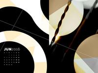 Abstract Desktop Calendar - June