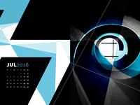 Abstract Desktop Calendar - July