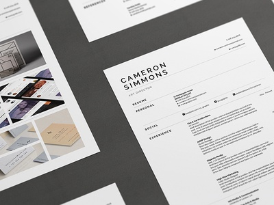 Pro Resume/CV - Cameron creative market cv design cv template portfolio cover letter resume design resume template resume