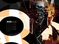Abstract Desktop Calendar - August