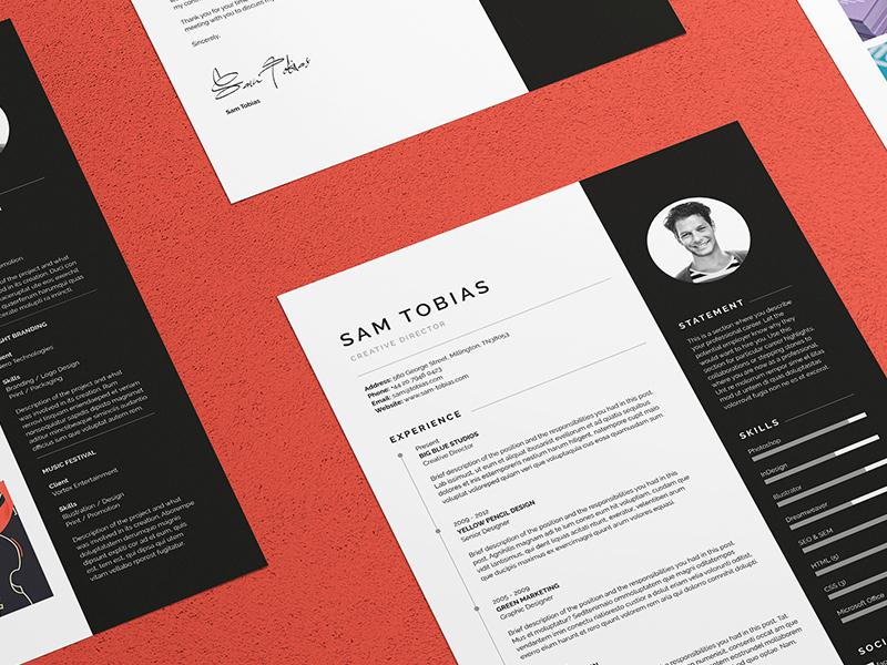 Pro Resume/CV - Sam resume resume template resume design cover letter portfolio cv template cv design creative market