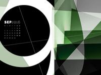 Abstract Desktop Calendar - September
