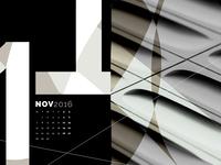 Abstract Desktop Calendar - November