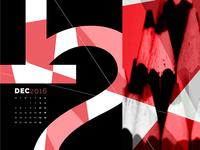 Abstract Desktop Calendar - December