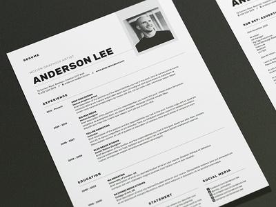 Resume/CV - 'Anderson'