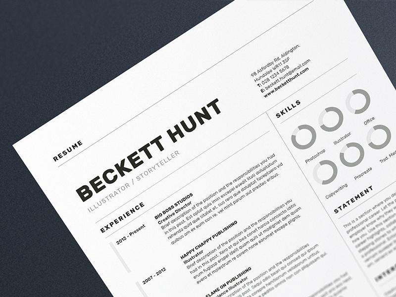Resume/CV - 'Beckett' creative market cv design cv template portfolio cover letter resume design resume template resume