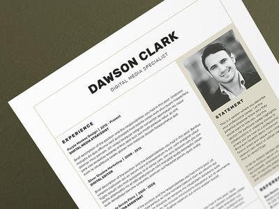 Resume/CV - 'Dawson'