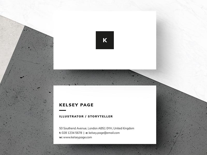 Business Card - Kelsey free mockup mockup creative market professional minimal business card template business card