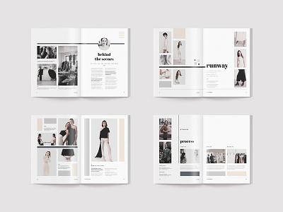 Inara - Lookbook creative market modern fashion book catalog indesign template lookbook