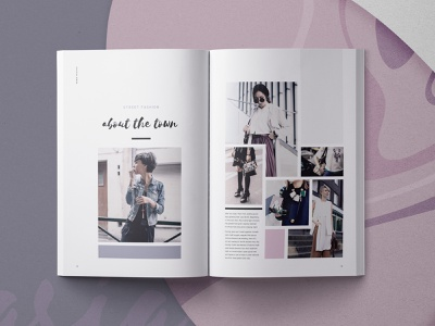 Hasia - Lookbook Template portfolio feminine modern indesign template lookbook indesign fashion creative market catalogue book