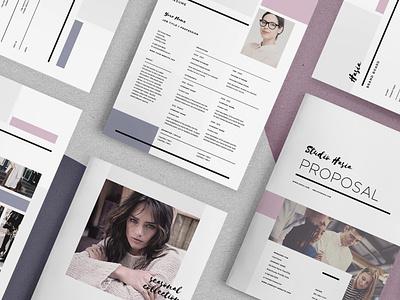 Hasia - Pitch Pack estimate pitch pack proposal lookbook resume invoice mood board brand board creative market