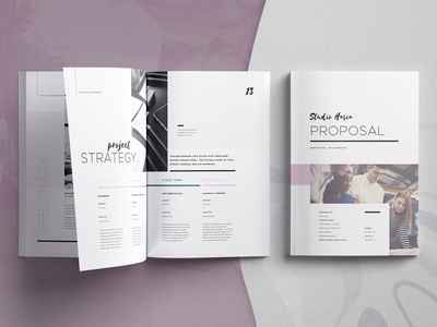 Hasia - Proposal template indesign template proposal portfolio indesign creative market clients business