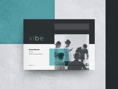 Vibe - Brand Manual brand brand guidelines style guide indesign template brand manual identity creative market agency logo studio