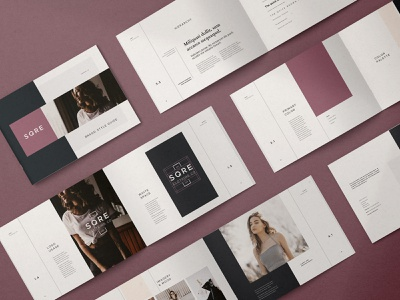 SQRE - Brand Manual typography identity brand guide muted fashion modern creative market indesign template indesign brand guidelines branding