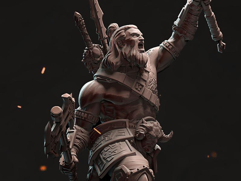 «Statuette Of Victory» zbrush 3d model sculpt figurine statuette fantasy rpg barbarian game art