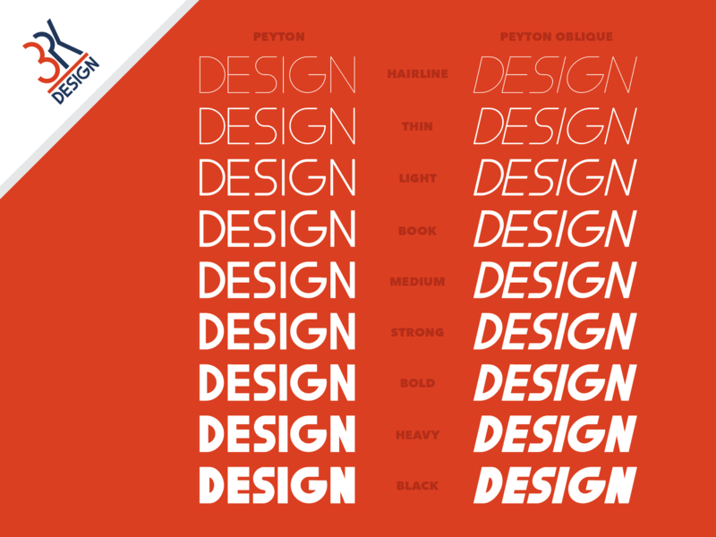 Peyton and Peyton Oblique, Typeface/Font by 3PK Design type text font design font typography design branding