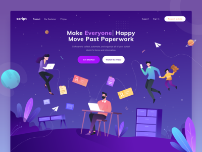 Paperwork Education Landing Page