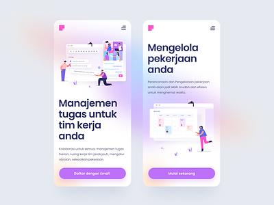 Project Management Platform App ux people flat colorful vector illustration ui project platform management design app mobile