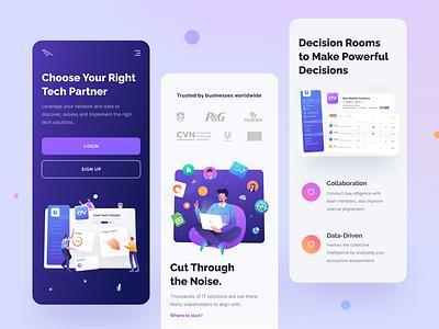 Tech Collaboration Platform Mobile tech color design ux ui digital gradient illustration platform app design app mobile