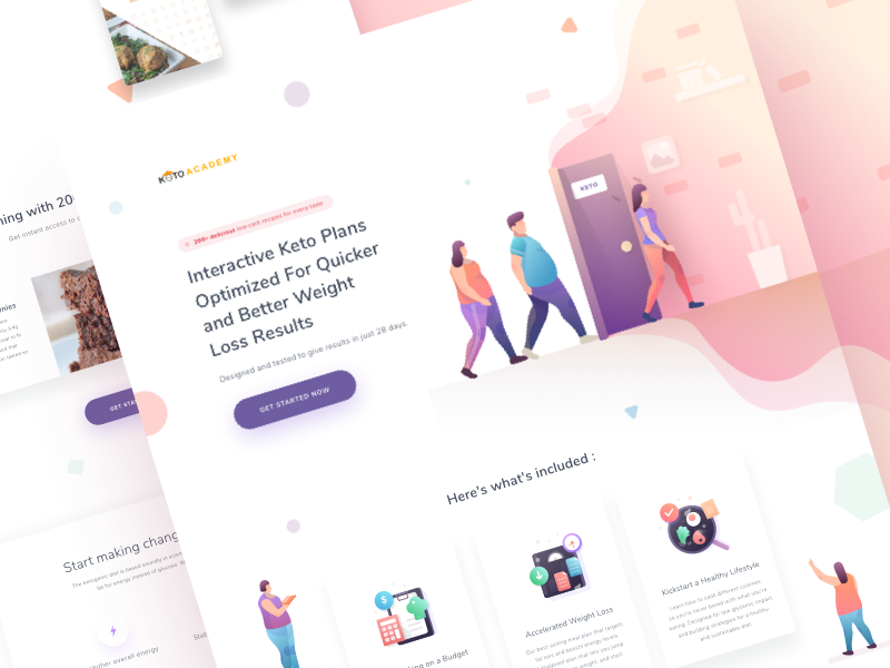 Diet program landing page by bapakpapay for Paperpillar