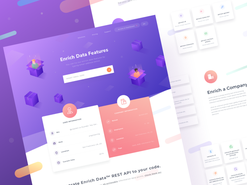 New Landing Page for Enrich Data