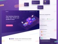 Enrichdata Homepage Design