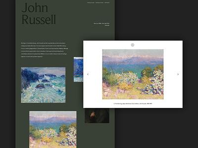 National Gallery Concept - Image Zoom interaction exhibition gallery image zoom responsive experiment art concept minimal website ux ui digital design