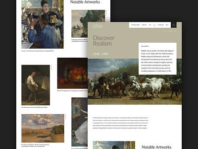 National Gallery Concept - Art Movements realism art movement exhibition gallery art experiment concept website ui ux digital design