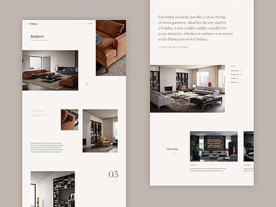Poliform Concept - Updated Product Page luxury furniture responsive home interiors concept minimal website ux ui digital design