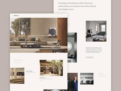 Poliform Concept - Homepage homepage luxury responsive home interiors concept minimal website ux ui digital design