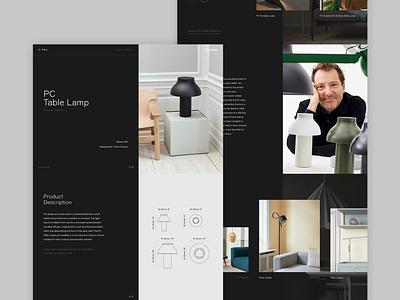 illuminate - Product Page responsive experiment interiors concept minimal website ux ui digital design