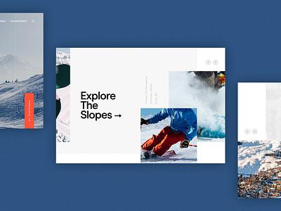 Verbier Website Concept winter sports skiing travel concept website ux ui digital design