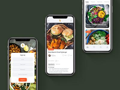 Finding Vegan - App Design Update app food app vegan food concept minimal ux ui digital design