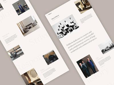 Poliform Concept - About home interiors responsive concept minimal website ux ui digital design