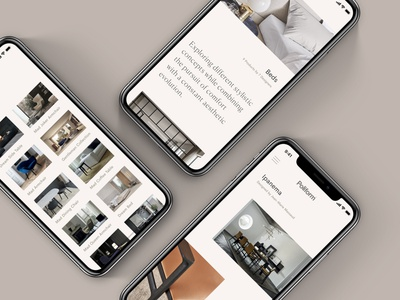 Poliform Concept - Mobile Design home interiors responsive concept minimal website ux ui digital design