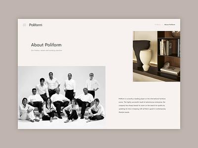 Poliform Concept - Additional Pages home interiors responsive concept minimal website ux ui digital design
