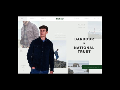 Barbour Website Redesign grid redesign luxury retail responsive ecommerce experiment concept website ux ui digital design