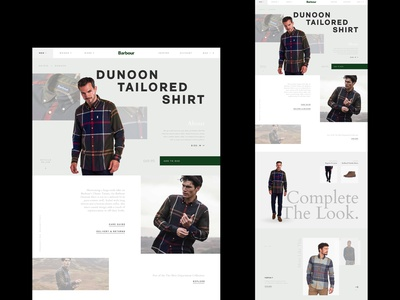 Barbour Product Page redesign retail luxury ecommerce responsive concept minimal website ux ui digital design