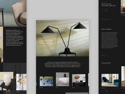 illuminate concept - Home page lighting home interiors responsive concept minimal website ux ui digital design