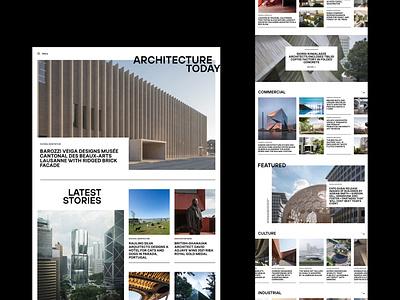 Architecture Blog Site Concept web design inspiration blog architecture home concept website ux ui digital design