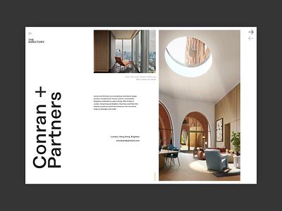 The Directory - Next Architect architect experiment responsive minimal concept website ux ui digital design