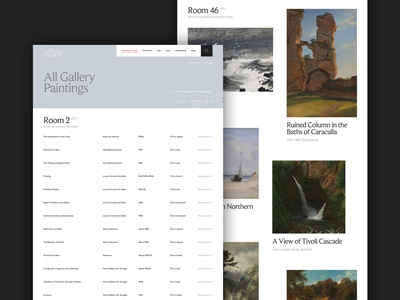 National Gallery Concept - Paintings A-Z gallery art responsive minimal concept website ux ui digital design