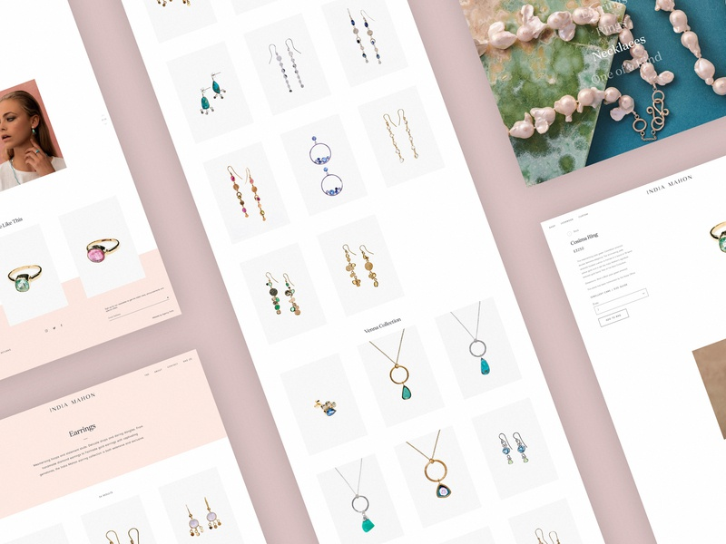 India Mahon Store responsive ecommerce jewellery minimal website ux ui digital design