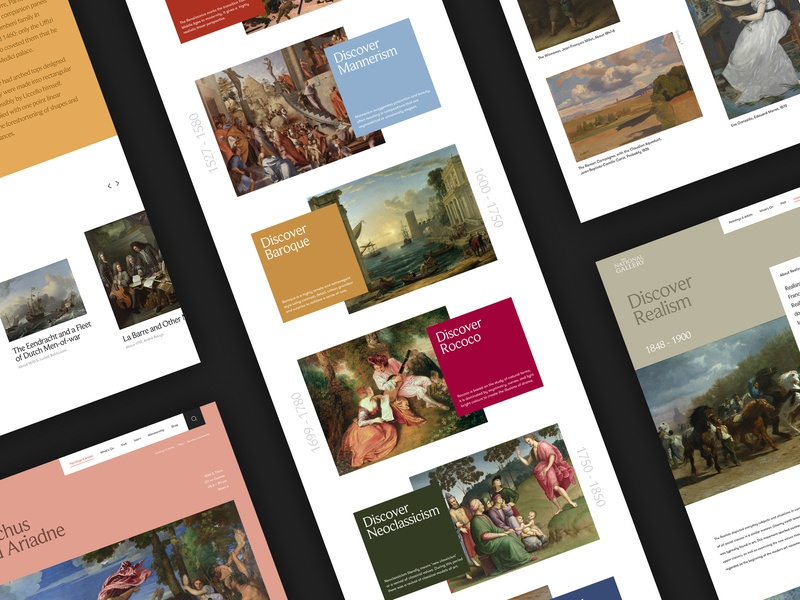 National Gallery responsive history online uk london art concept website ux ui digital design