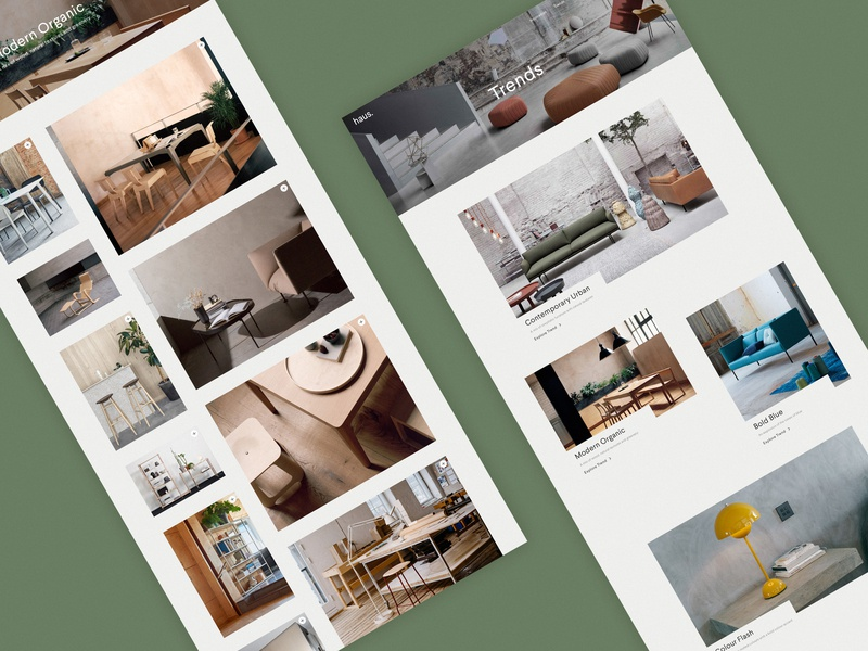 Haus home responsive experiment interiors minimal website ux ui digital design