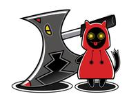 Little Red's Wolf blackcat alternative adobe design digital creepy black cat cat illustration vector
