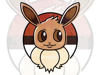 Let's Go Eevee pokeball eevee pokemongo pokemon illustration design digital cute adobe vector