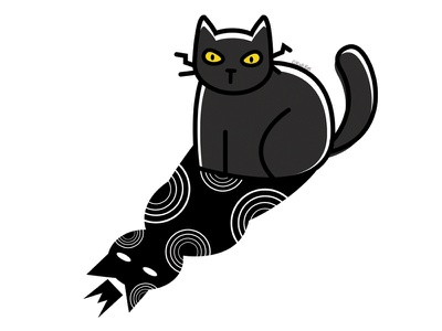 Shadow Prince crown prince blackcat digital adobe creepy black cat cat illustration cute design vector