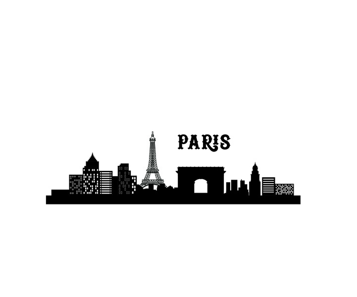 Paris city skyline Vector illustration urban design town district warehouse skyscraper header web city concept silhouette skyline illustration landscape architecture building cityscape city lanscape business background apartment